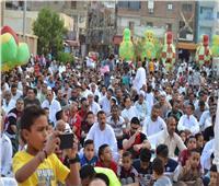 مئات الألاف في السويس يصلون العيد في 63 ساحة مكشوفة