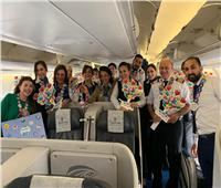 صور| مصر للطيران تحتفل مع عملائها بعيد الفطر المبارك