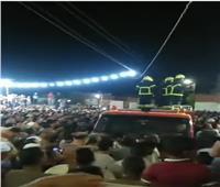 جنازة عسكرية للشهيد عمر القاضي بمسقط رأسه في المنوفية