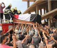 سوهاج: جنازة عسكرية لشهداء المحافظة ضحايا هجوم العريش الإرهابي