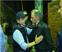 صور| سمير غانم وهنيدي وشهيرة في عزاء محمد نجم