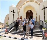 محافظ المنوفية يتفقد كنيسة العذراء بمدينة السادات