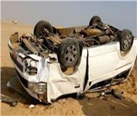 إصابة ٨ أشخاص في حادث انقلاب ميكروباص على طريق أسيوط البحر الأحمر