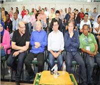 وزير الرياضة يشهد المباراة الودية لمنتخب مصر أمام تنزانيا