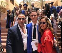 بالصور| أحمد السقا ومها الصغير يحتفلان بتخرج ابنهما ياسين