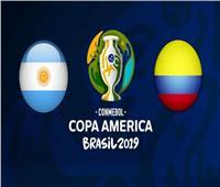 انطلاق الشوط الثاني بين الأرجنتين وكولومبيا