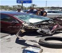 بالصور.. مصرع شخص وإصابة آخر في حادث بمحور 26 يوليو