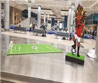 صور| مطار القاهرة الدولي يتزين لاستقبال وفود كأس الأمم الإفريقية