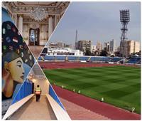 مدن «الكان» تتزين| 10 صور ترصد تحول استاد الإسكندرية لتحفة فنية