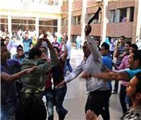 طالب يتعدى على عضو هيئة تدريس ومشاجرةبالسنج والمطاوي داخل جامعة طنطا
