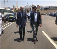 أمم إفريقيا 2019| وزير الرياضة يتفقد استاد السويس ويشيد بسرعة إنهاء التجهيزات