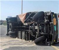 صور| مصرع شخصين وإصابة 35 آخرين في حادث بالطريق الإقليمي بالمنوفية