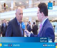 وزير الخارجية يتحدث عن تفاصيل زيارة الرئيس السيسي إلى بيلاروسيا