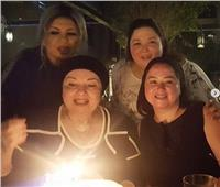 مي نور الشريف تحتفل بعيد ميلاد خالتها «نورا»