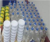 ضبط ٣٨٤٠ زجاجة خل مغشوش داخل مصنع غير مرخص بكفر الشيخ