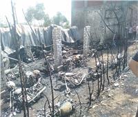 صور| السيطرة على حريق هائل بجراج موتوسيكلات في طوخ