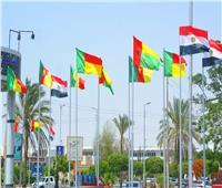 أعلام المنتخبات الأفريقية تزين شوارع الإسماعيلية