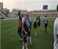 أمم إفريقيا 2019| منتخب أوغندا يتدرب على ملعب المقاولون العرب