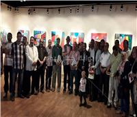 صور| افتتاح معرض «ألحان لونية» للفنان على فوزيبالهناجر