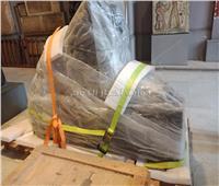 ننشر صورة تمثال امنحتب الثالث قبل نقله إلى المتحف الكبير