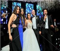 صور| حماقي يُشعل زفاف «محمد وآية» بحضور زينة والرداد وشوبير