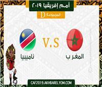 بث مباشر| مباراة المغرب وناميبيا في أمم إفريقيا 2019