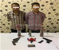 حبس عاطلين لحوزتهما أسلحة نارية بالمطرية