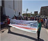 محافظ أسيوط يشارك في مهرجان «المشي والدراجات» احتفالا بذكرى ثورة 30 يونيو