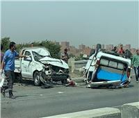 إصابة 19 شخصًا فى تصادم 4 سيارات بالبحيرة