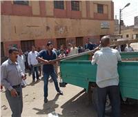 تحرير 35 محضر إشغالات وتموين في حملات مكبرة بسوهاج