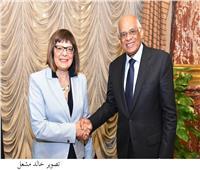 رئيسة الجمعية الوطنية الصربية تغادر القاهرة