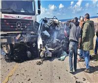 مصرع شخصين في حادث مروري بالبحيرة