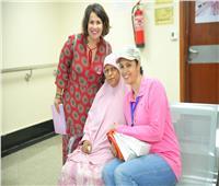 «إنجي وجدان» تدعم محاربات «سرطان الثدي»