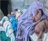 سيدة بالغربية تضع ٥ توائم بعد تأخرها في الحمل لمدة ٧ سنوات
