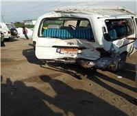 إصابة 15 شخصا في حادث انقلاب سيارة ميكروباص بالمنيا