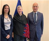 مايا مرسي تلتقي نائبة سكرتير حلف الناتو خلال زيارتها لبروكسل