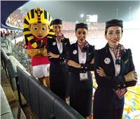 مضيفات «مصر للطيران» يشاركن في تنظيم مبارة المنتخب أمام الكونغو