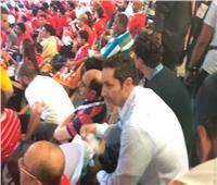 صور.. علاء مبارك يؤازر المنتخب الوطني أمام الكونغو الديمقراطية