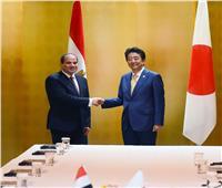 تفاصيل جلسة المباحثات بين السيسي وشينزو آبي في أوساكااليابانية