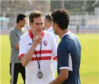 محمد إبراهيم يتقدم للزمالك بالهدف الأول أمام البطل الأوليمبي