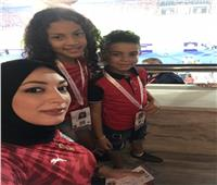 أمم إفريقيا 2019| مؤازرة عائلية من دينا الرفاعي لمنتخب مصر