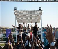 صور| بحضور عدوية.. شحتة كاريكا وديانا يتألقان بحفل «مارينا»