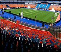 تأمين مكثف بمحيط ستاد القاهرة قبل انطلاق مباراة مصر ,جنوب إفريقيا