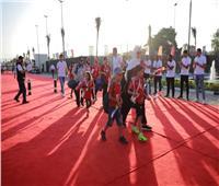 صور| «بريزنتيشن» تستقبل أبناء الشهداء في إستاد القاهرة بممر شرفي