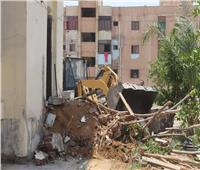 صور|  حملة مكبرة للقضاء على العشوائية بمدينة السادات