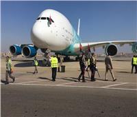 مطار القاهرة يستقبل أكبر طائرة في العالم