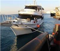 القوات البحرية تنجح في إنقاذ لنش سياحي من الغرق بالبحر الأحمر
