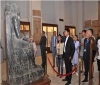 صور| رئيس مدغشقر يزور المتحف المصري بالتحرير