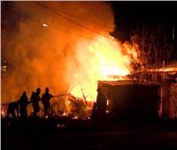 خزانات مياة إضافية لإخماد حريق كنيسة الأنبا بولا