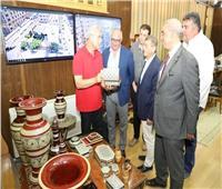 محافظ المنوفية يستقبل وفد شركة بيوانيرجي الإيطالية